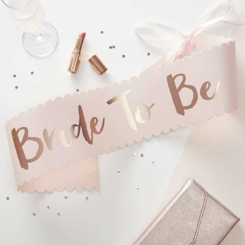 """Faixa """"BRIDE TO BE"""""""