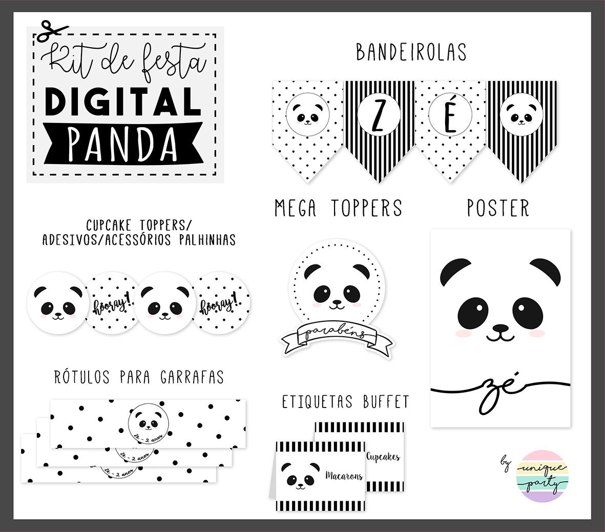 Kit DIGITAL - READY TO PRINT - PANDA