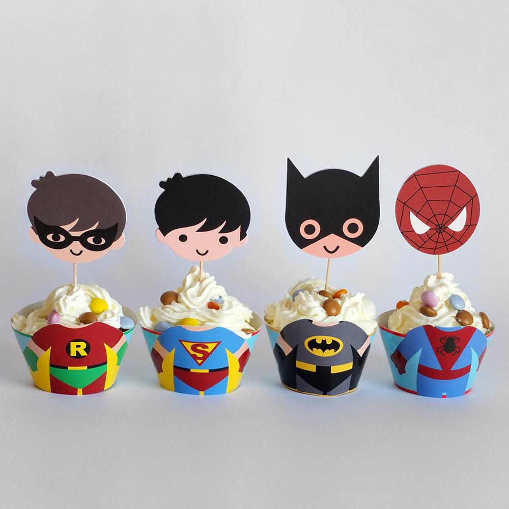Cupcake SUPER HEROIS