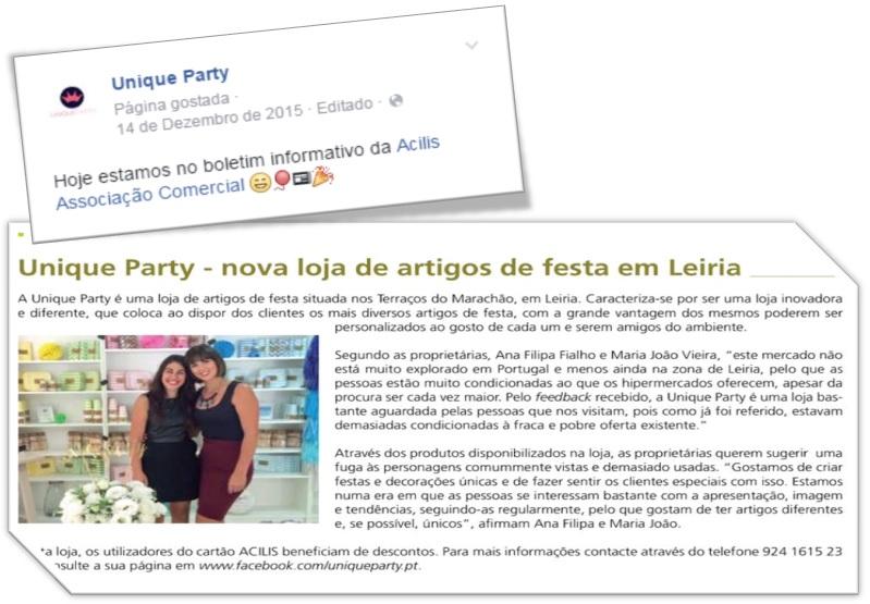unique party imprensa