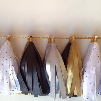 Tassel de Papel -  BLACK & GOLD