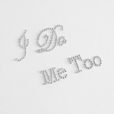 "Autocolantes ""I DO"" e ""ME TOO"""