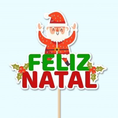 Topo de Bolo  - FELIZ NATAL