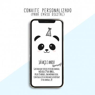 CONVITE DIGITAL - READY TO PRINT - PANDA