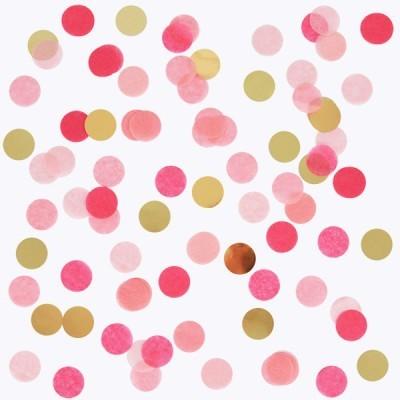Confettis DOURADO E ROSA