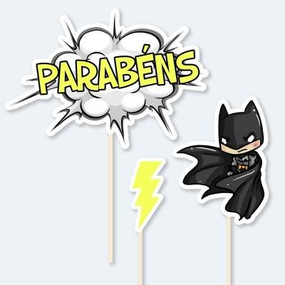 Topos de Bolo BATMAN