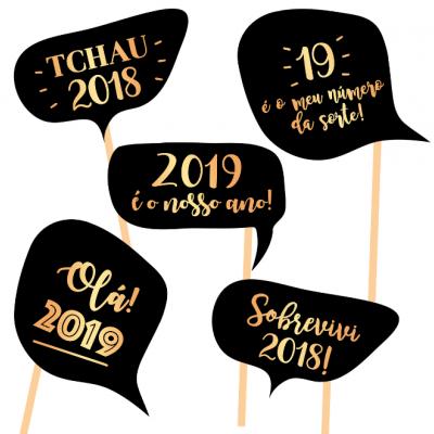 PhotoBooth ANO NOVO - balões de fala