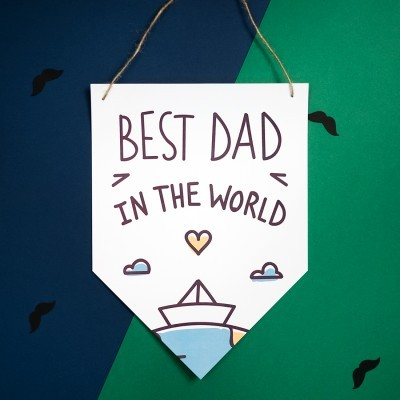 Bandeira DIA DO PAI - THE BEST DAD IN THE WORLD
