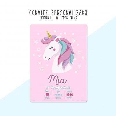 CONVITE DIGITAL - READY TO PRINT - UNICÓRNIO
