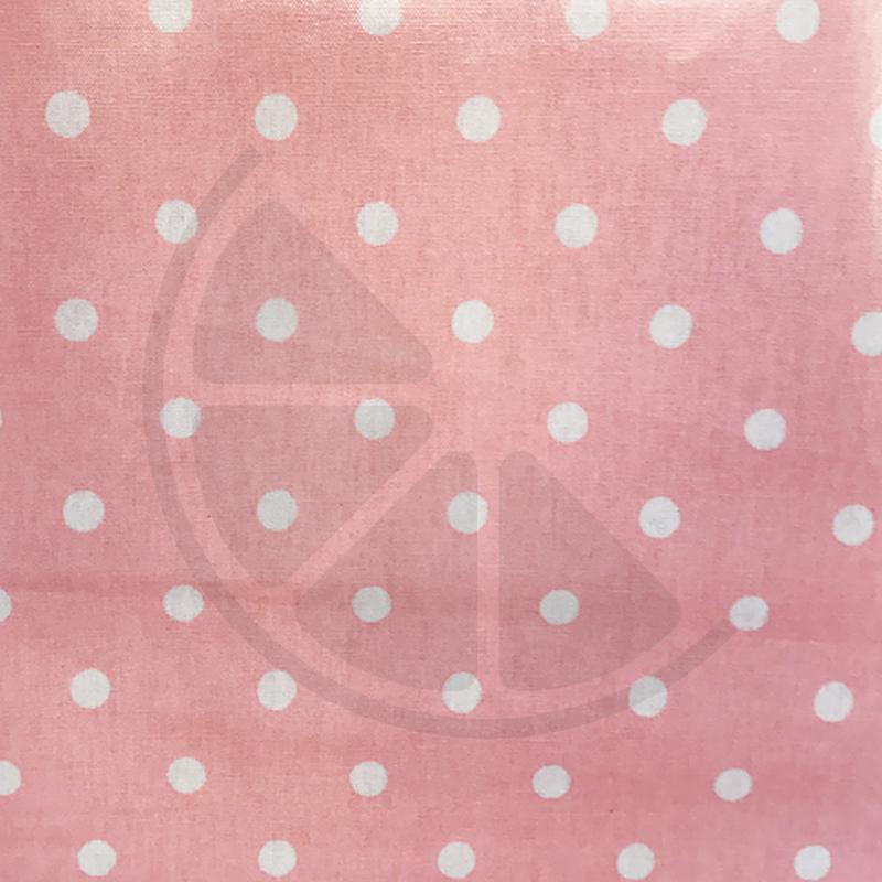 Bolas grandes com fundo cor de rosa claro (plastificado)