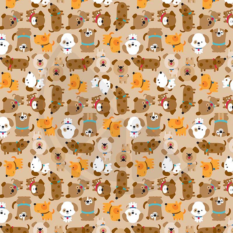 Puppy love - cãezinhos em fundo bege