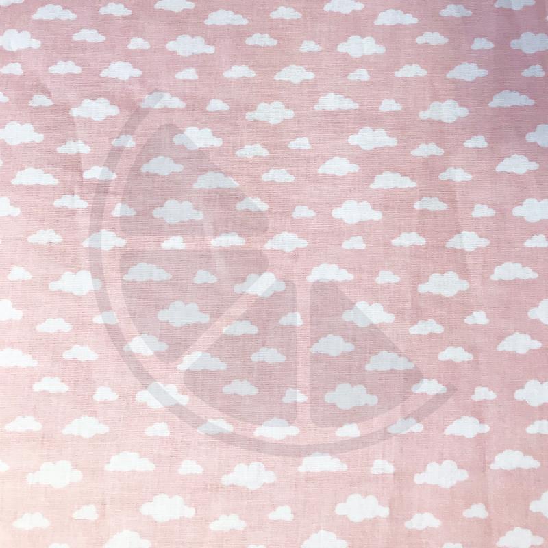 Nuvens fundo rosa