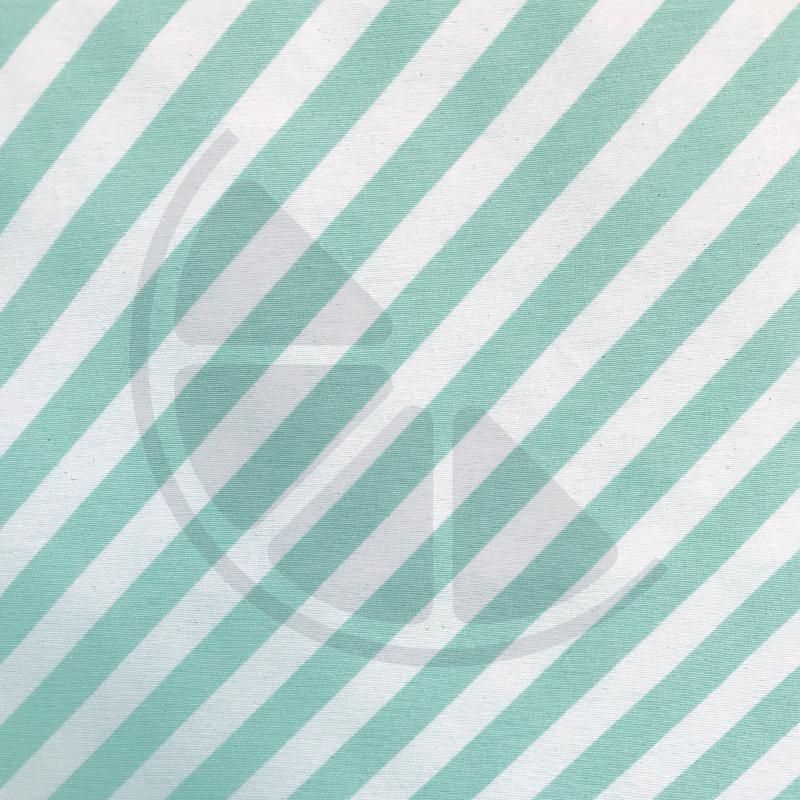 Loneta - Riscas verde água e branco