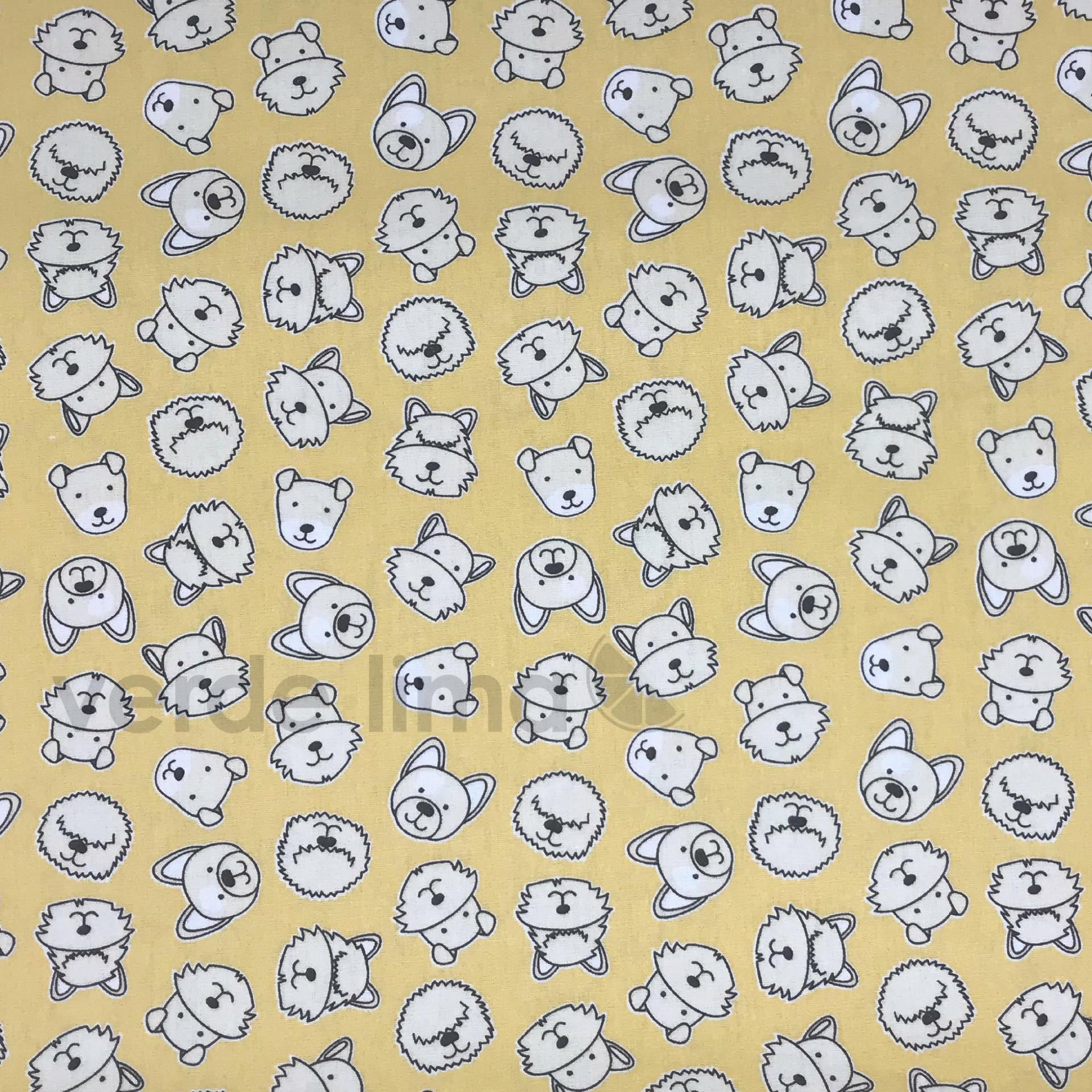 Cachorros fundo amarelo