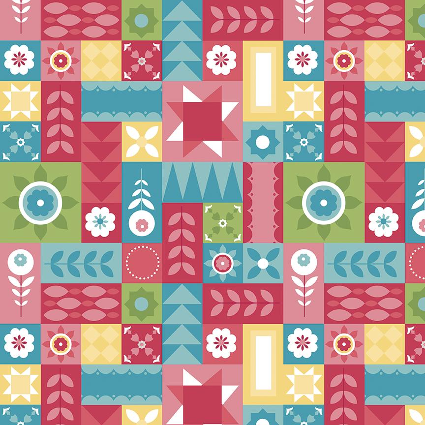 Hello Lovely - Geometric quilt