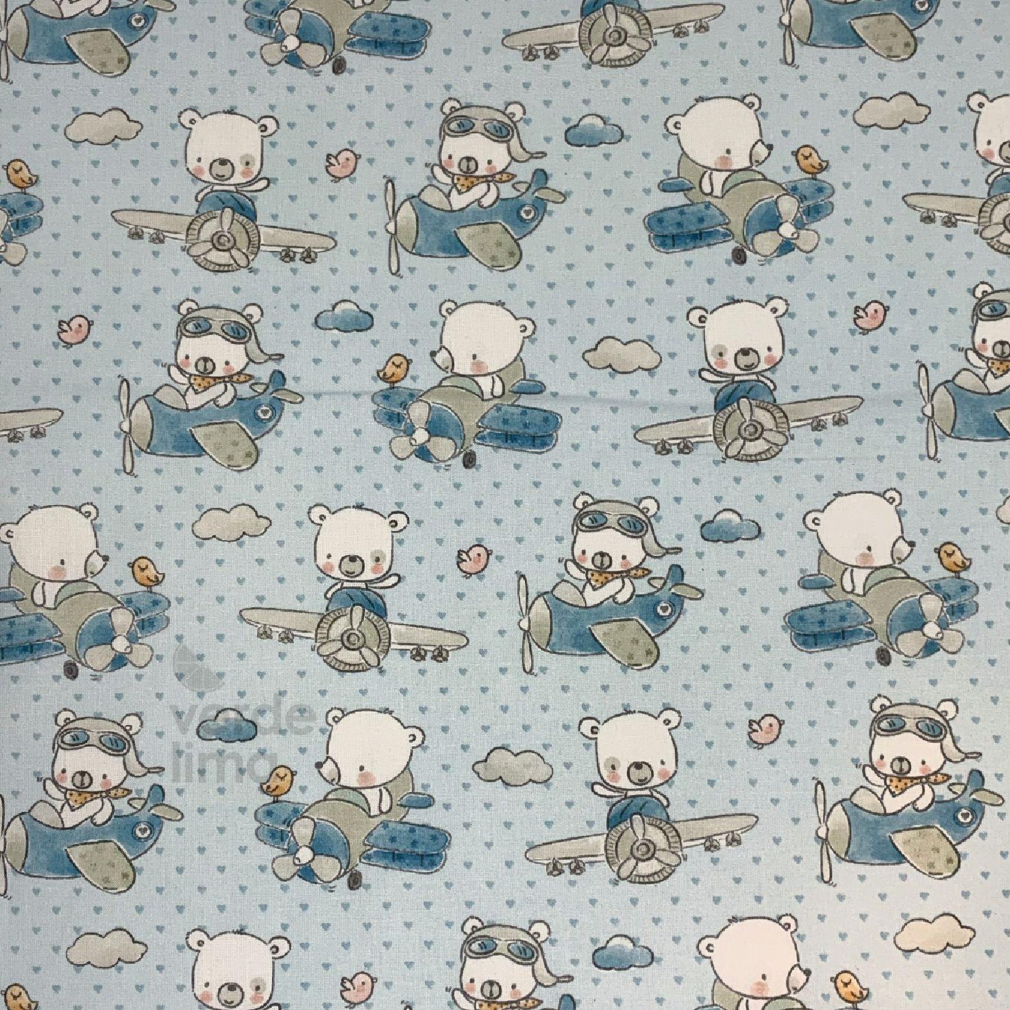 Ursinhos no avião - azul