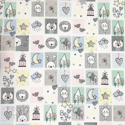 Sweet Animals - Quadrados fundo Branco