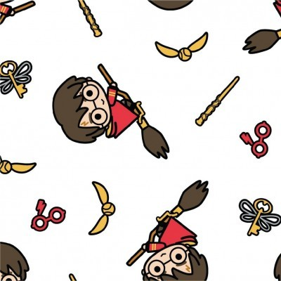 Harry Potter - White Kawaii Quidditch