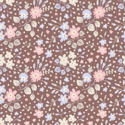 Tilda - Plum Garden - Flower Confetti Nutmeg
