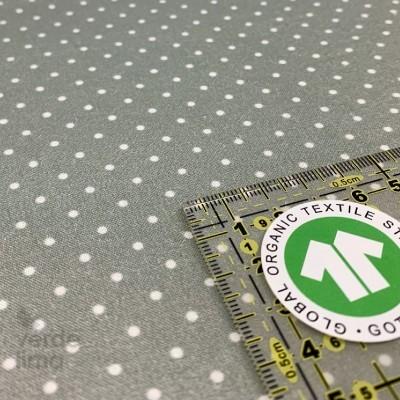 Algodão orgânico - Pintas verde