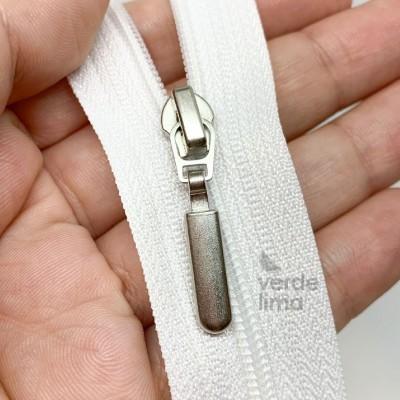 Cursores de fecho zipper malha 3 prateados rectangulares