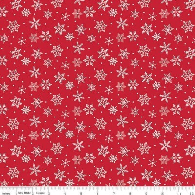 Merry and Bright - snowflakes red