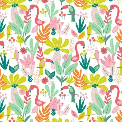 Colorful flamingos (plastificado)