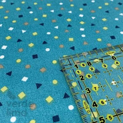 Dino formas geométricas - azuis