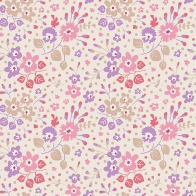 Tilda - Plum Garden - Flower Confetti Sand