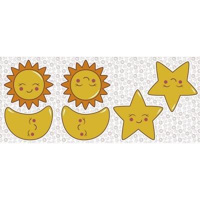 Pillows - Sol, lua e estrela