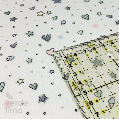 Hearts and Stars  - Fundo Branco