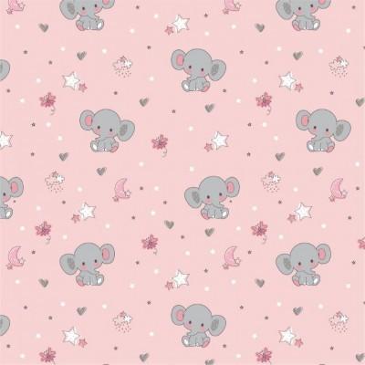 Sweet elephant  - Fundo Rosa