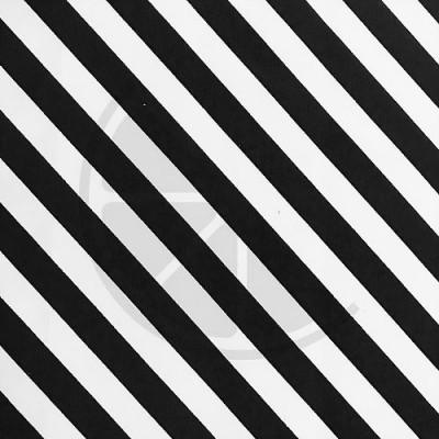 Loneta - Riscas preto e branco