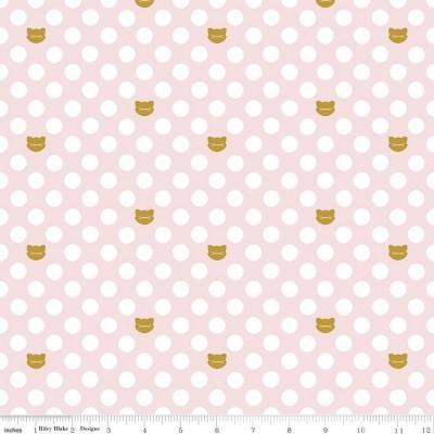 Chloe & Friends - Cat Dot Pink Sparkle