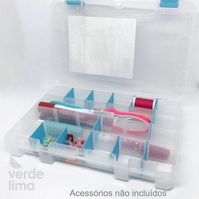 Caixa com compartimentos ajustáveis