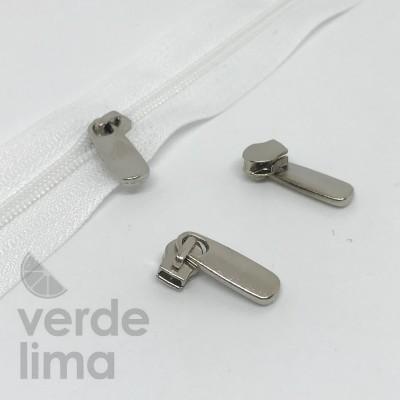 Cursores de fecho zipper malha 3 prateados