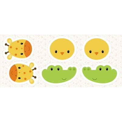 Pillows - Pintainho, girafa e crocodilo
