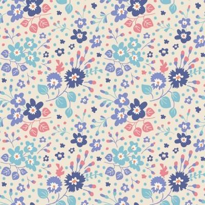 Tilda - Plum Garden - Flower Confetti Blue