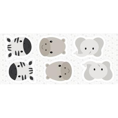 Pillows - Zebra, hipopótamo e elefante