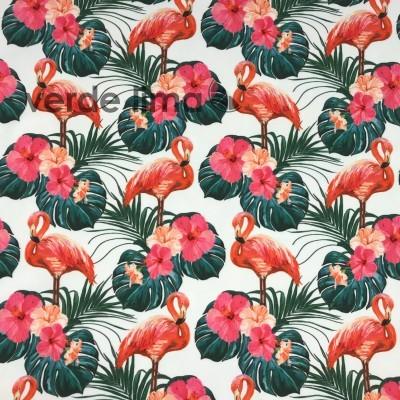Licra - Flamingos e palmeiras