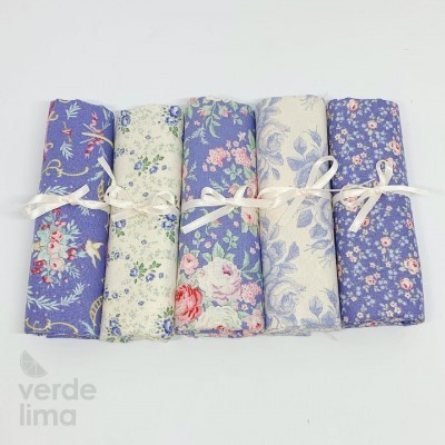 Tilda - Old Rose - Kit de fat quarters blue