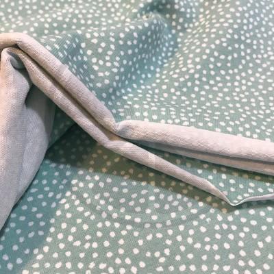 Malha Jersey - Salpicos fundo verde claro