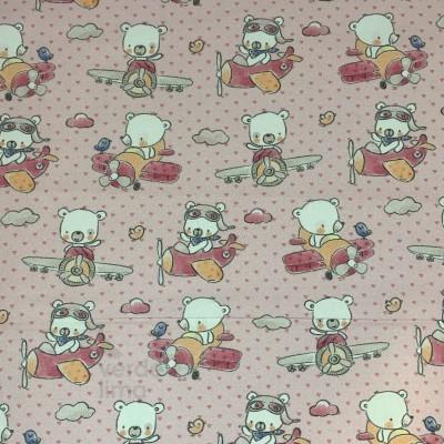 Ursinhos no avião - rosa