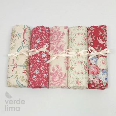 Tilda - Old Rose - Kit de fat quarters raspberry and pink