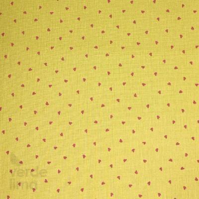 Pretty Hearts - fundo amarelo