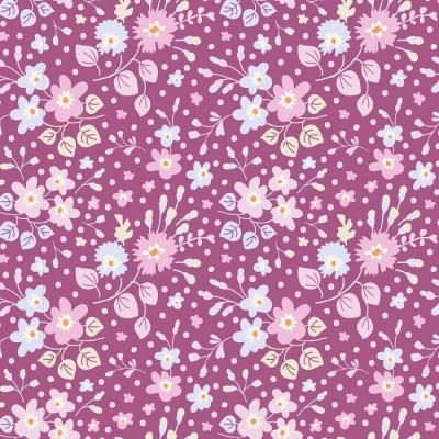 Tilda - Plum Garden - Flower Confetti Plum