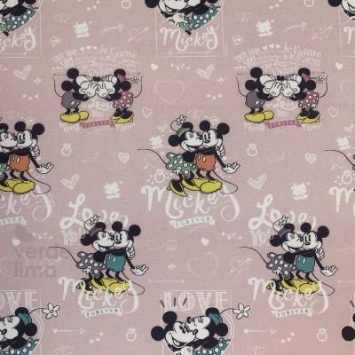 Mickey e Minnie vintage fundo rosa