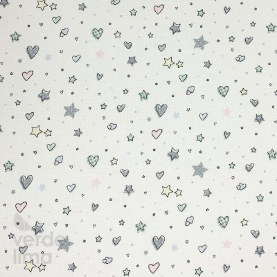 Hearts and Stars  - Fundo Branco