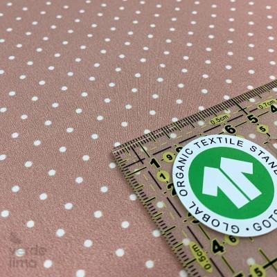 Algodão orgânico - Pintas rosa