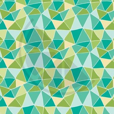 You are Dino-mite - Triângulos em verde e turquesa